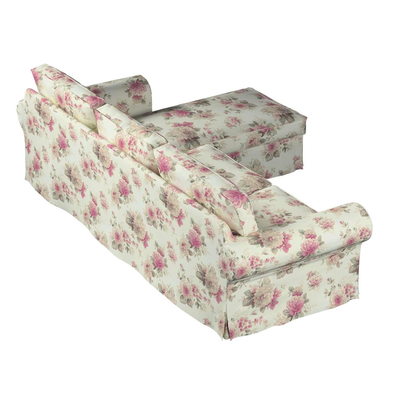 Pokrowiec na sofę Ektorp 2-osobową i leżankę w kolekcji Mirella, tkanina: 141-07