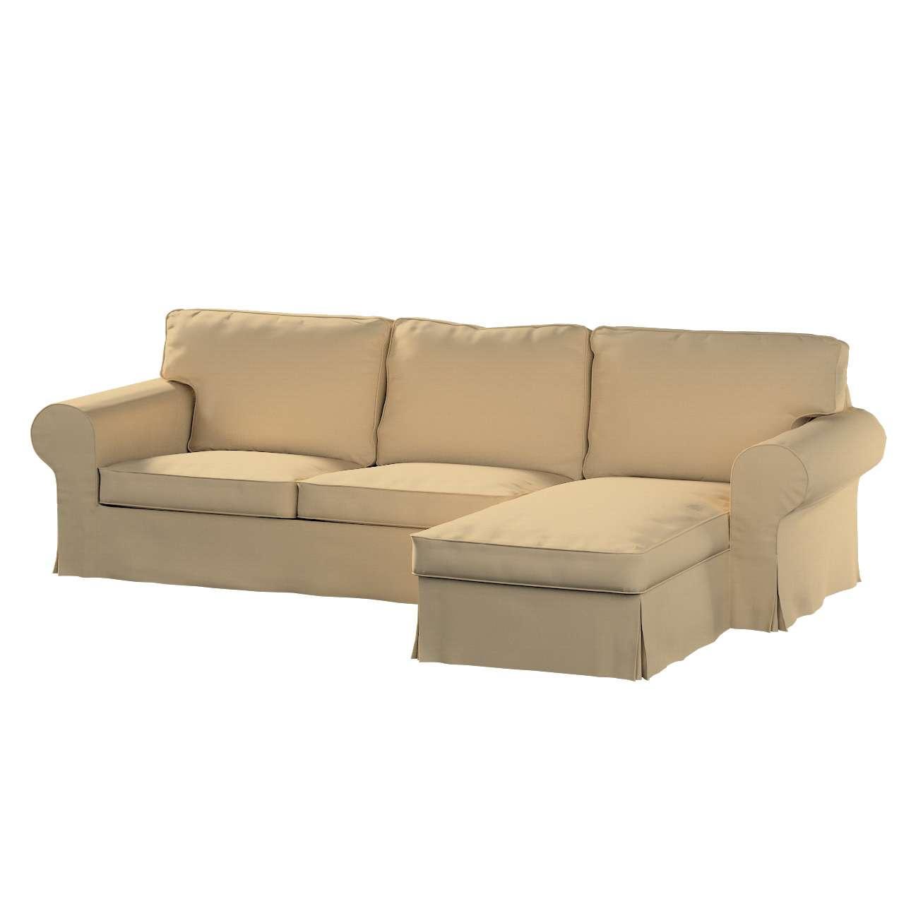 Pokrowiec na sofę Ektorp 2-osobową i leżankę sofa ektorp 2-os. i leżanka w kolekcji Cotton Panama, tkanina: 702-01