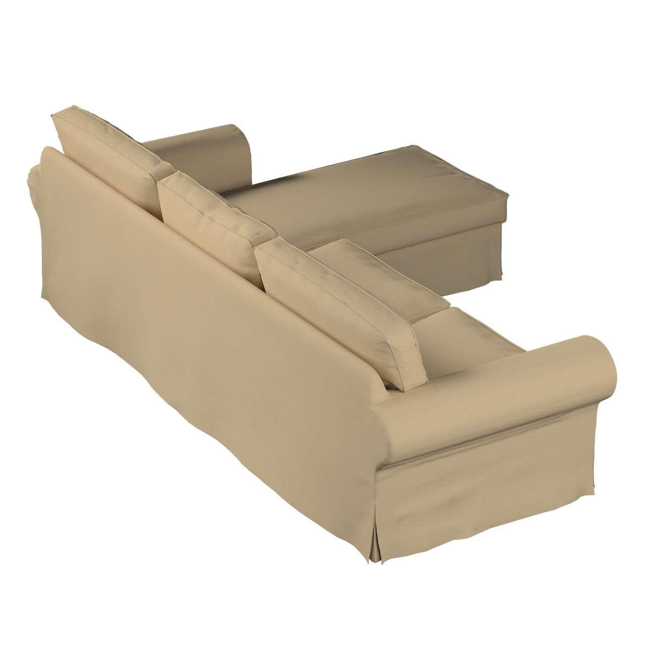 Ektorp 2-Sitzer Sofabezug mit Recamiere von der Kollektion Cotton Panama, Stoff: 702-01