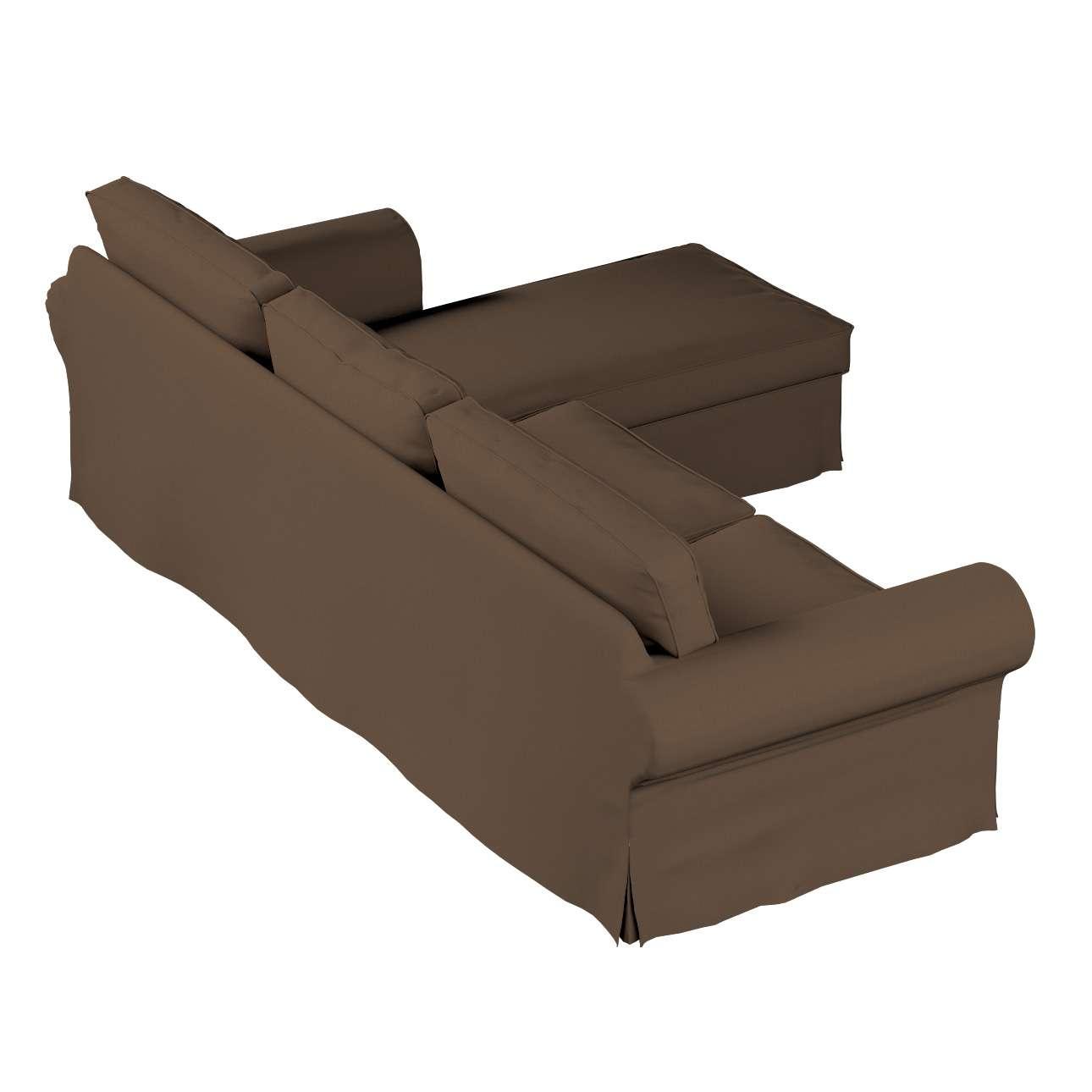Ektorp 2-Sitzer Sofabezug mit Recamiere von der Kollektion Cotton Panama, Stoff: 702-02