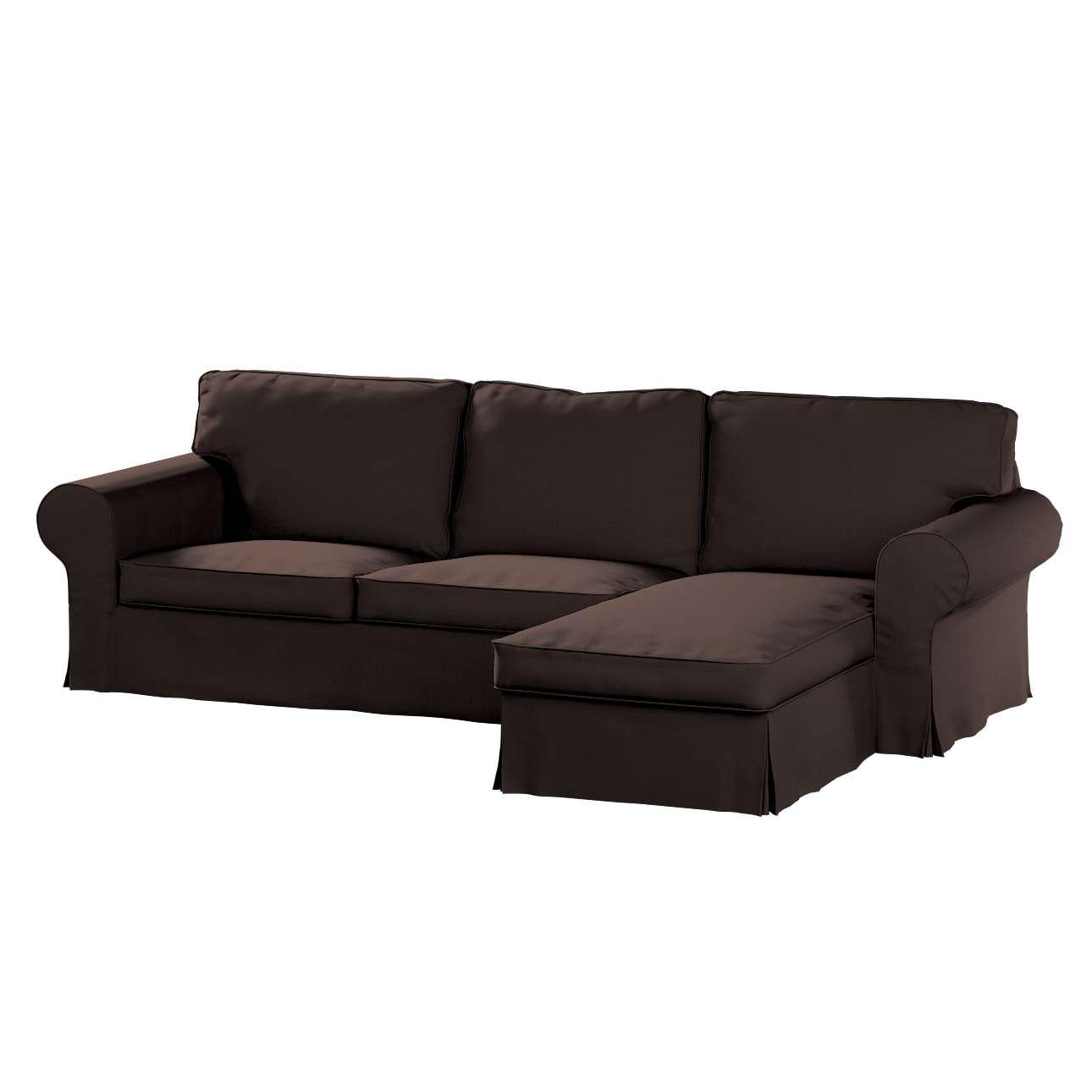 Pokrowiec na sofę Ektorp 2-osobową i leżankę sofa ektorp 2-os. i leżanka w kolekcji Cotton Panama, tkanina: 702-03