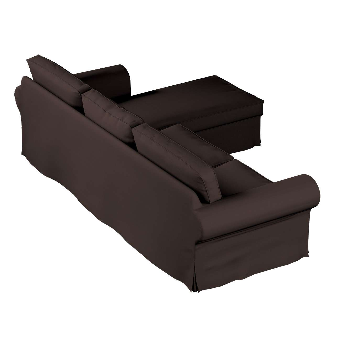 Ektorp dvivietės sofos su gulimuoju krėslu užvalkalas Ikea Ektorp dvivietės sofos su gulimuoju krėslu užvalkalas kolekcijoje Cotton Panama, audinys: 702-03