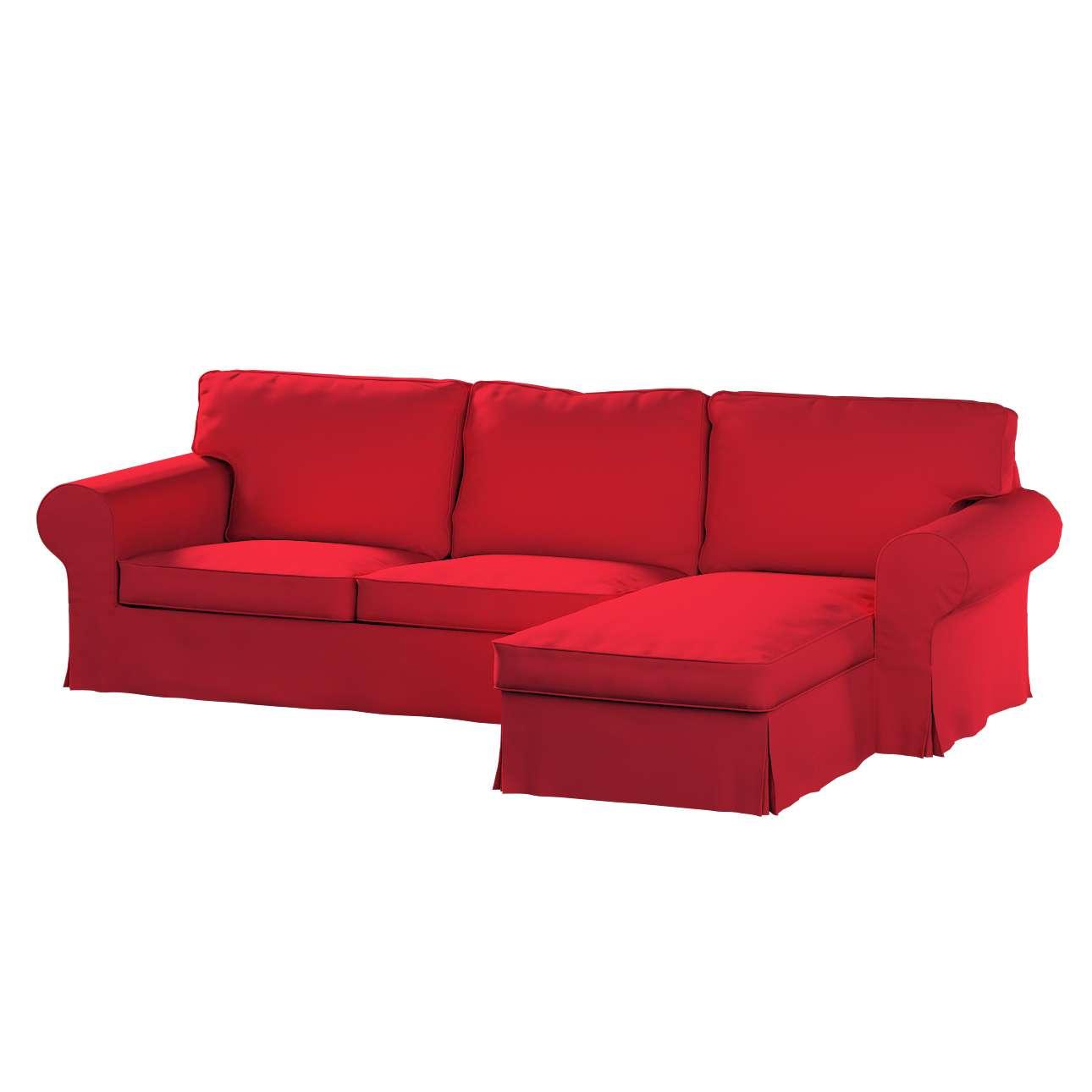 Ektorp dvivietės sofos su gulimuoju krėslu užvalkalas Ikea Ektorp dvivietės sofos su gulimuoju krėslu užvalkalas kolekcijoje Cotton Panama, audinys: 702-04