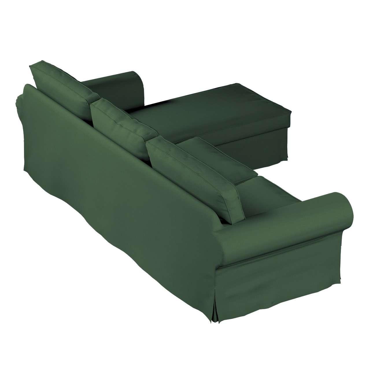 Pokrowiec na sofę Ektorp 2-osobową i leżankę sofa ektorp 2-os. i leżanka w kolekcji Cotton Panama, tkanina: 702-06