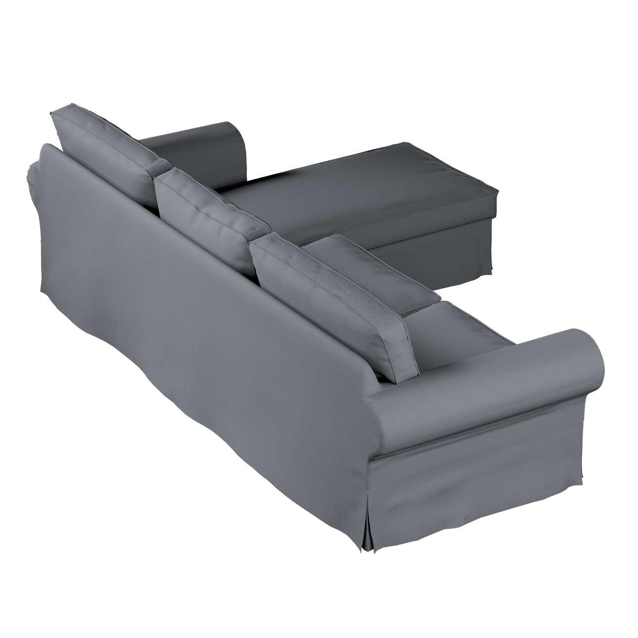 Ektorp dvivietės sofos su gulimuoju krėslu užvalkalas Ikea Ektorp dvivietės sofos su gulimuoju krėslu užvalkalas kolekcijoje Cotton Panama, audinys: 702-07