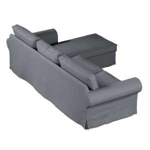 Pokrowiec na sofę Ektorp 2-osobową i leżankę sofa ektorp 2-os. i leżanka w kolekcji Cotton Panama, tkanina: 702-07