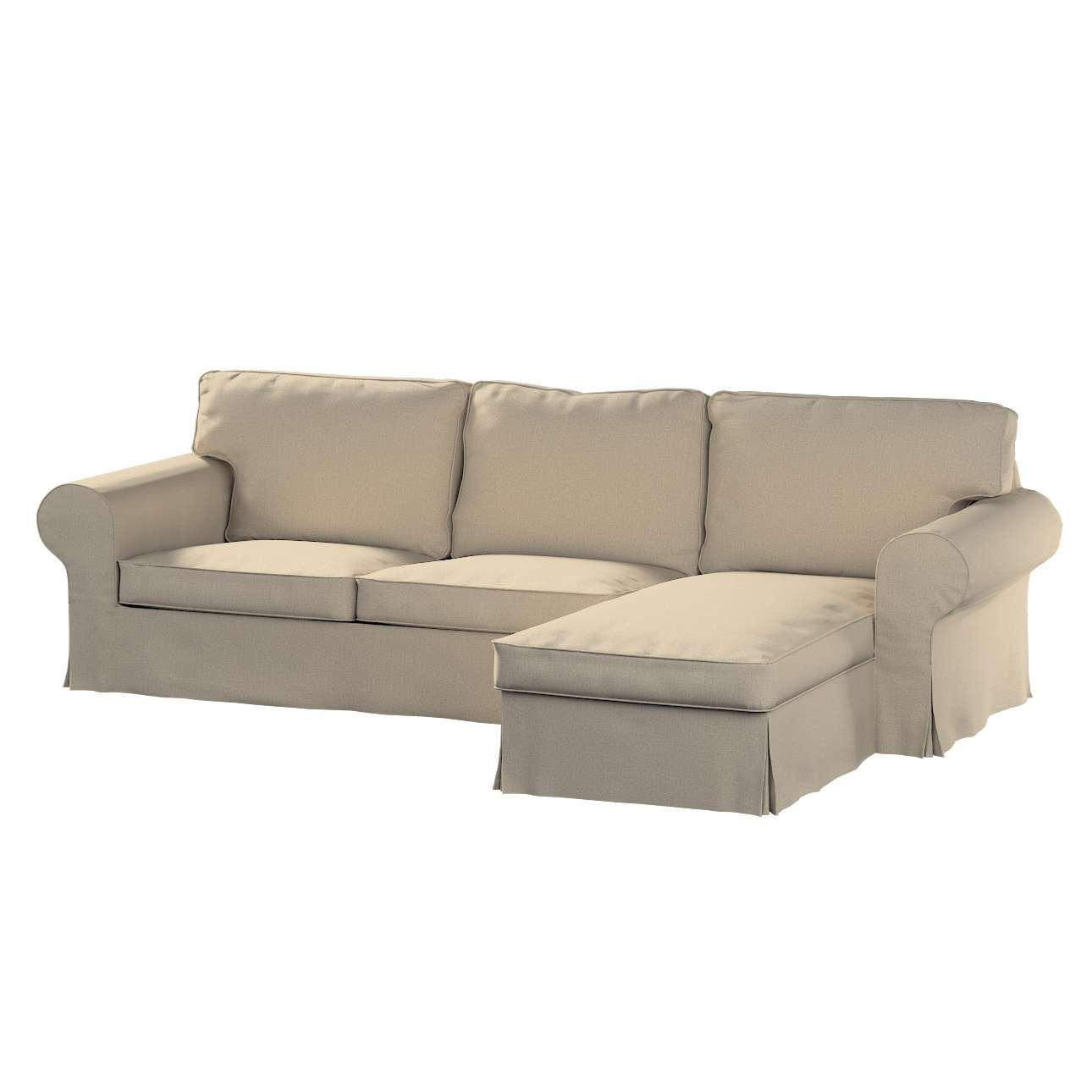 Pokrowiec na sofę Ektorp 2-osobową i leżankę sofa ektorp 2-os. i leżanka w kolekcji Edinburgh, tkanina: 115-78