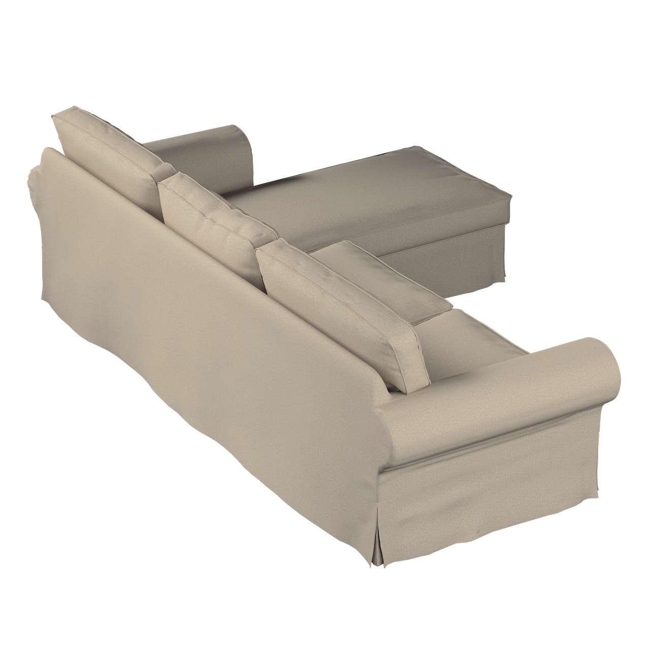 ektorp 2 sitzer sofabezug mit recamiere beige dekoria. Black Bedroom Furniture Sets. Home Design Ideas