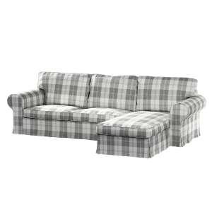 Ektorp dvivietės sofos su gulimuoju krėslu užvalkalas Ikea Ektorp dvivietės sofos su gulimuoju krėslu užvalkalas kolekcijoje Edinburgh , audinys: 115-79