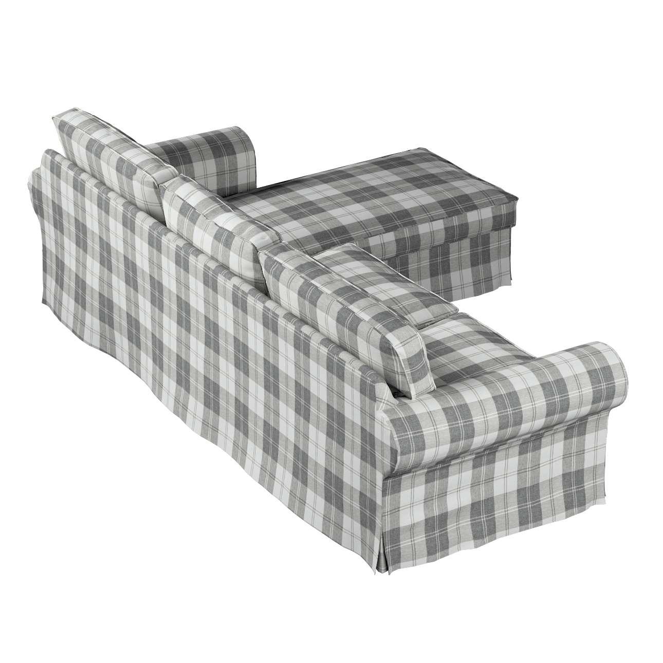 Pokrowiec na sofę Ektorp 2-osobową i leżankę sofa ektorp 2-os. i leżanka w kolekcji Edinburgh, tkanina: 115-79