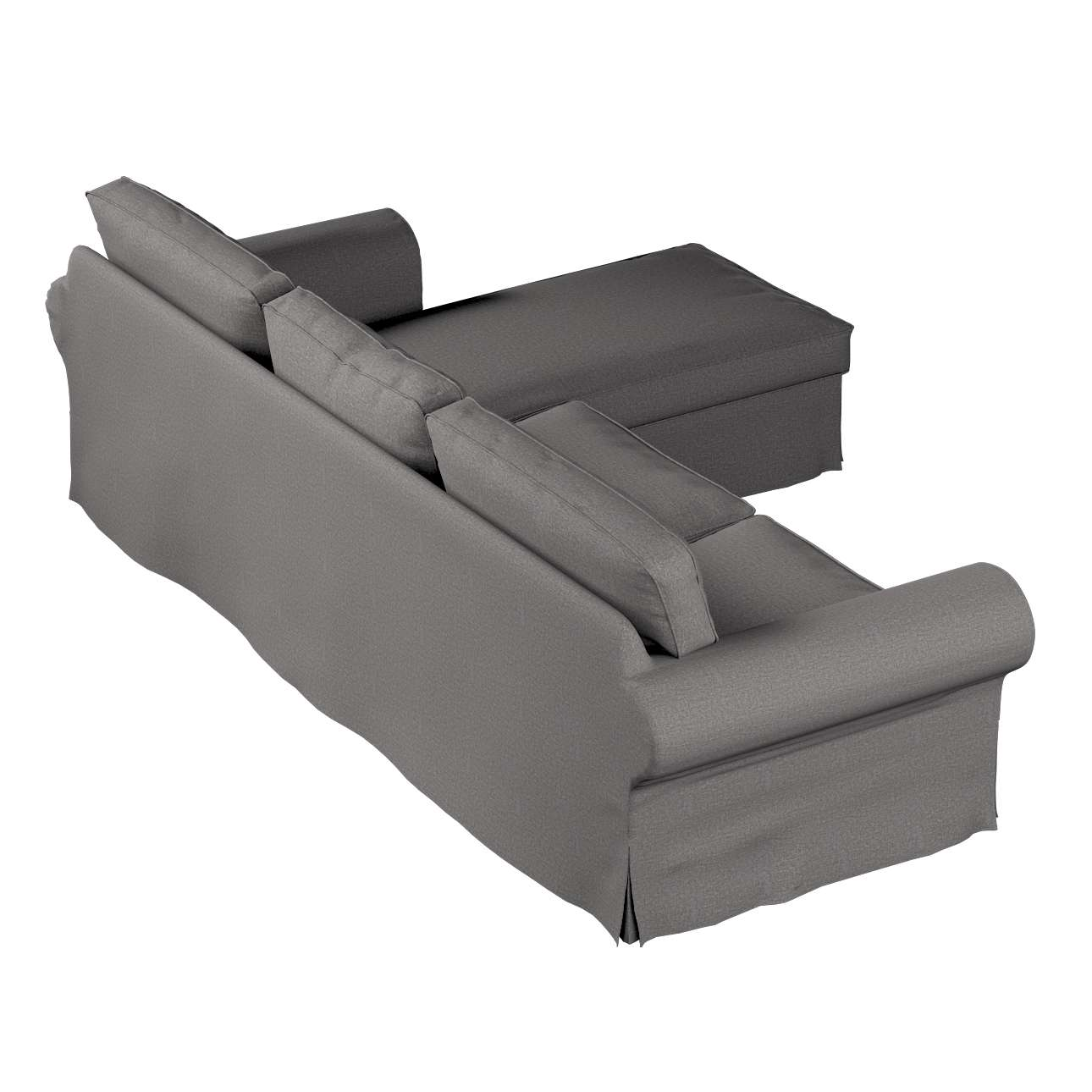 ektorp 2 sitzer sofabezug mit recamiere grau dekoria. Black Bedroom Furniture Sets. Home Design Ideas
