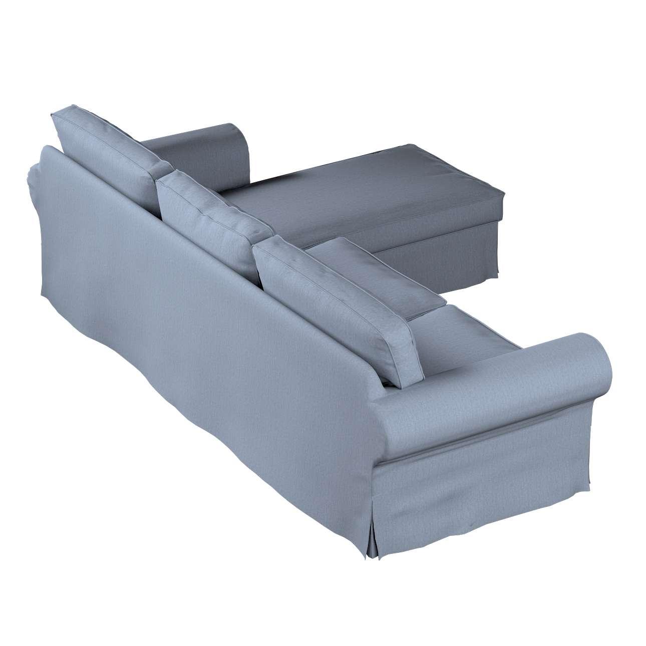 Pokrowiec na sofę Ektorp 2-osobową i leżankę w kolekcji Chenille, tkanina: 702-13