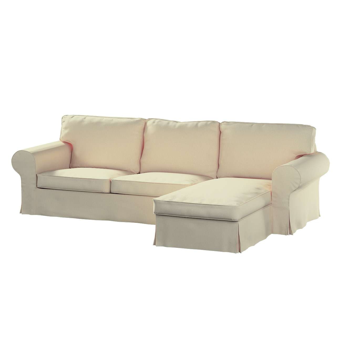 Ektorp 2-Sitzer Sofabezug mit Recamiere von der Kollektion Chenille , Stoff: 702-22