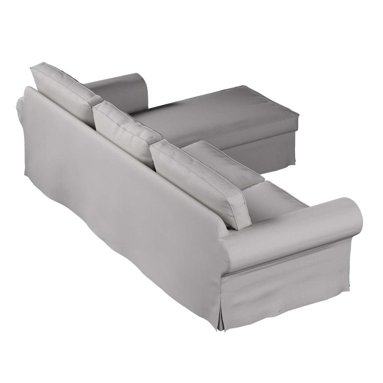 Pokrowiec na sofę Ektorp 2-osobową i leżankę w kolekcji Chenille, tkanina: 702-23