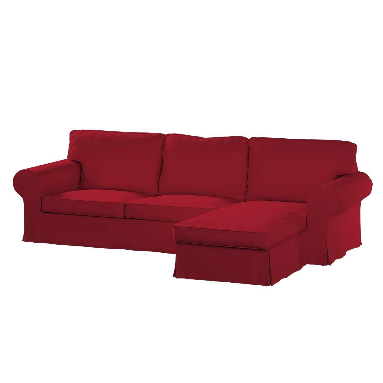 Pokrowiec na sofę Ektorp 2-osobową i leżankę sofa ektorp 2-os. i leżanka w kolekcji Chenille, tkanina: 702-24