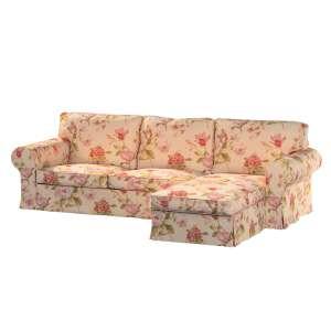 Pokrowiec na sofę Ektorp 2-osobową i leżankę sofa ektorp 2-os. i leżanka w kolekcji Londres, tkanina: 123-05