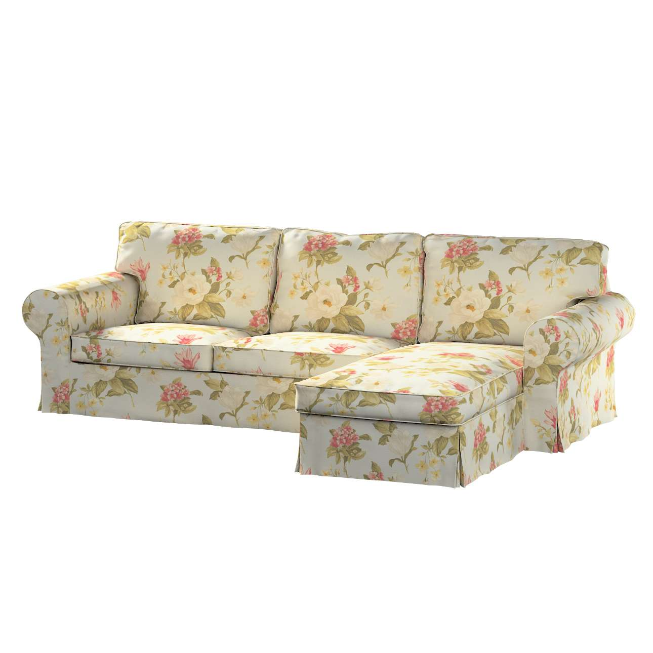 Pokrowiec na sofę Ektorp 2-osobową i leżankę sofa ektorp 2-os. i leżanka w kolekcji Londres, tkanina: 123-65