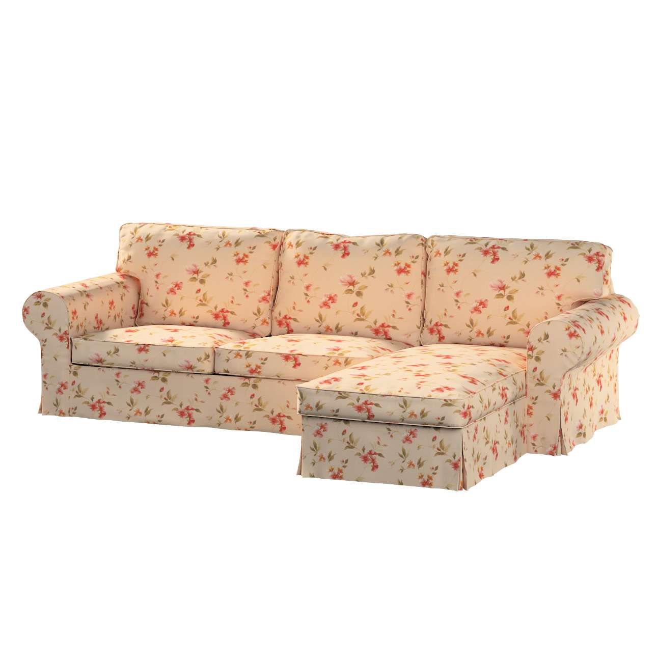Ektorp 2-Sitzer Sofabezug mit Recamiere Ektorp 2-Sitzer Sofabezug mit Recamiere von der Kollektion Londres, Stoff: 124-05