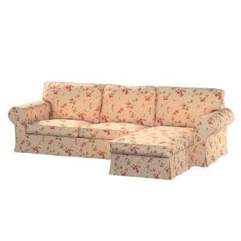 Pokrowiec na sofę Ektorp 2-osobową i leżankę sofa ektorp 2-os. i leżanka w kolekcji Londres, tkanina: 124-05