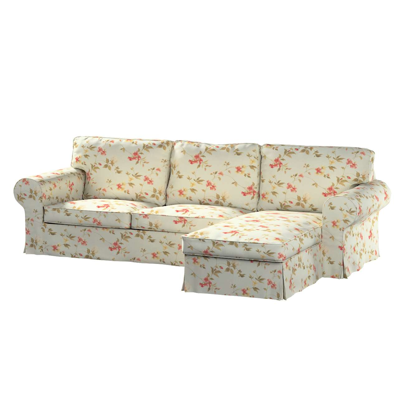 Pokrowiec na sofę Ektorp 2-osobową i leżankę w kolekcji Londres, tkanina: 124-65