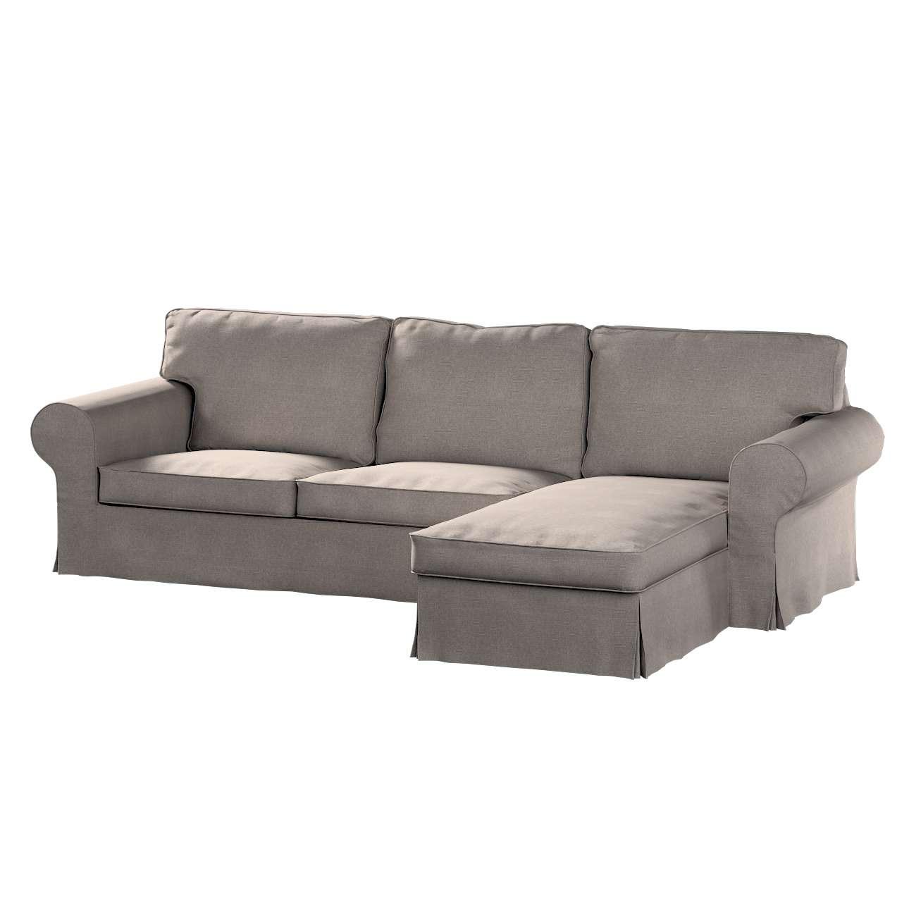 Ektorp dvivietės sofos su gulimuoju krėslu užvalkalas Ikea Ektorp dvivietės sofos su gulimuoju krėslu užvalkalas kolekcijoje Etna , audinys: 705-09