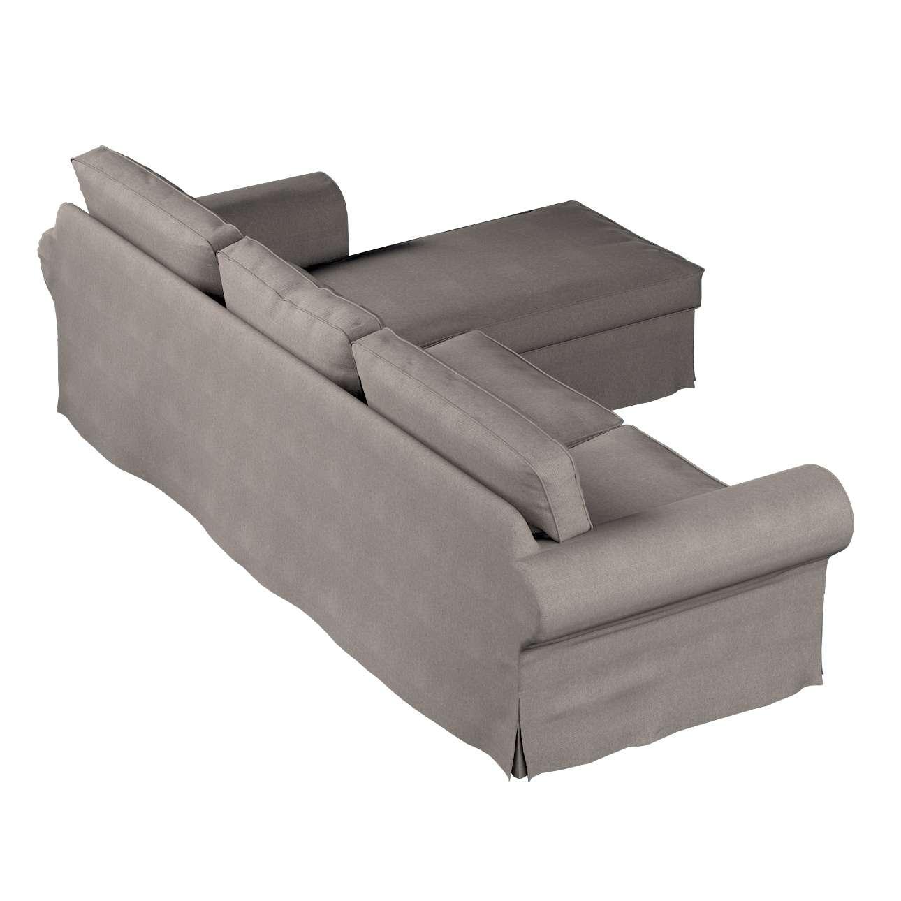 Pokrowiec na sofę Ektorp 2-osobową i leżankę w kolekcji Etna, tkanina: 705-09