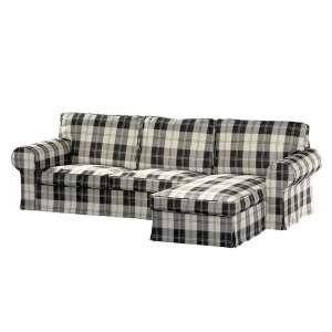 Ektorp dvivietės sofos su gulimuoju krėslu užvalkalas Ikea Ektorp dvivietės sofos su gulimuoju krėslu užvalkalas kolekcijoje Edinburgh , audinys: 115-74