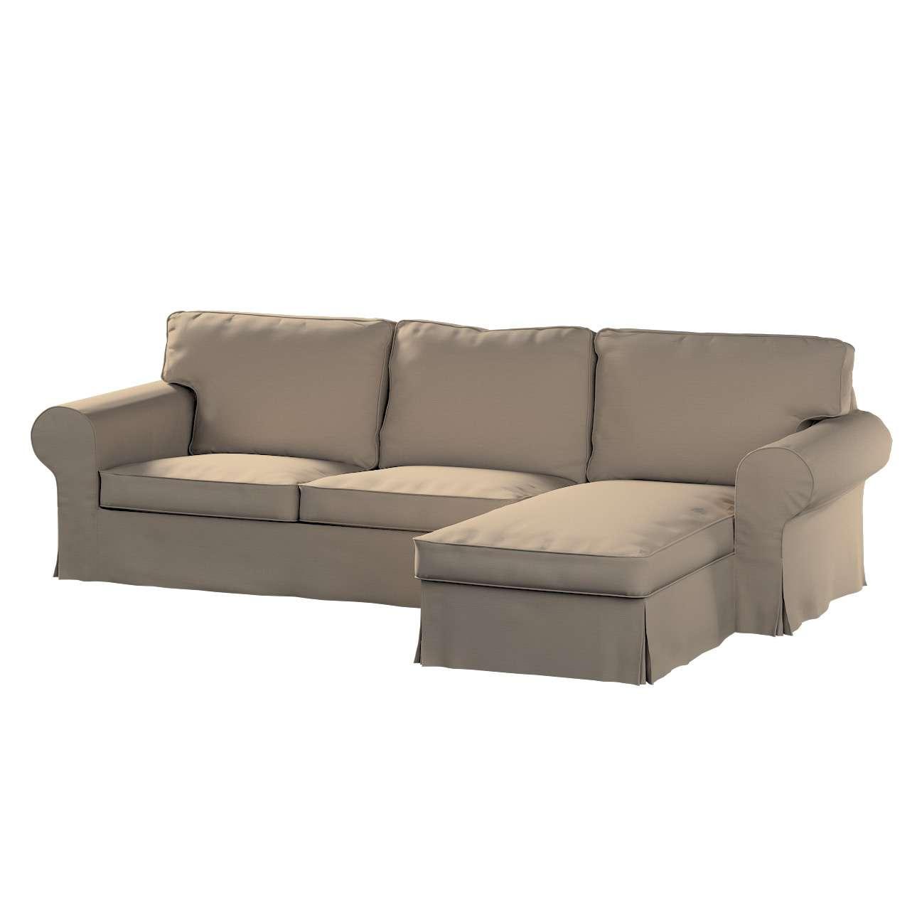 Ektorp dvivietės sofos su gulimuoju krėslu užvalkalas Ikea Ektorp dvivietės sofos su gulimuoju krėslu užvalkalas kolekcijoje Cotton Panama, audinys: 702-28