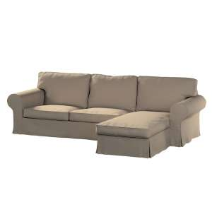 Pokrowiec na sofę Ektorp 2-osobową i leżankę sofa ektorp 2-os. i leżanka w kolekcji Cotton Panama, tkanina: 702-28
