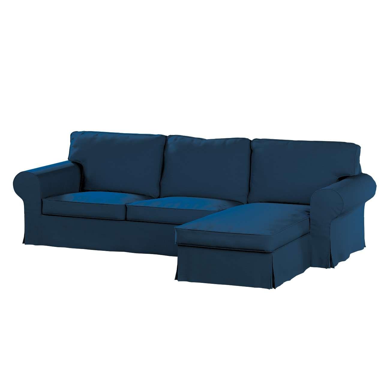 Pokrowiec na sofę Ektorp 2-osobową i leżankę w kolekcji Cotton Panama, tkanina: 702-30