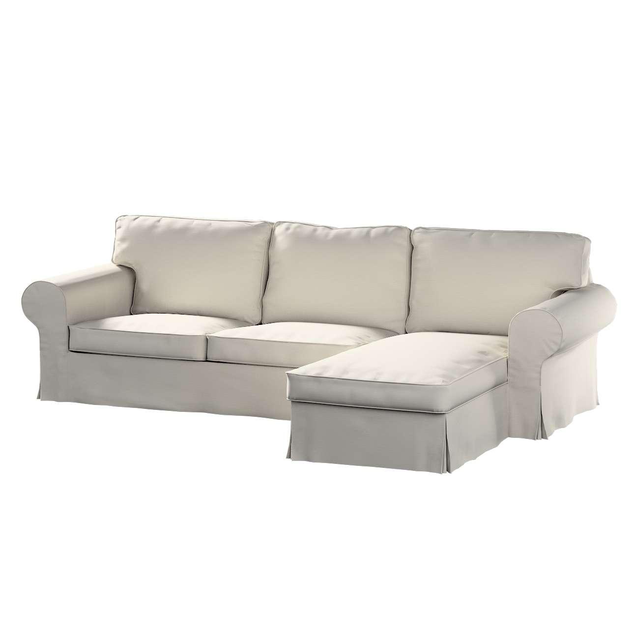 Pokrowiec na sofę Ektorp 2-osobową i leżankę w kolekcji Cotton Panama, tkanina: 702-31