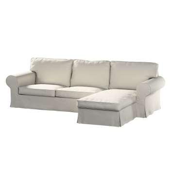 Pokrowiec na sofę Ektorp 2-osobową i leżankę sofa ektorp 2-os. i leżanka w kolekcji Cotton Panama, tkanina: 702-31