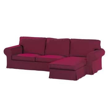 Pokrowiec na sofę Ektorp 2-osobową i leżankę sofa ektorp 2-os. i leżanka w kolekcji Cotton Panama, tkanina: 702-32