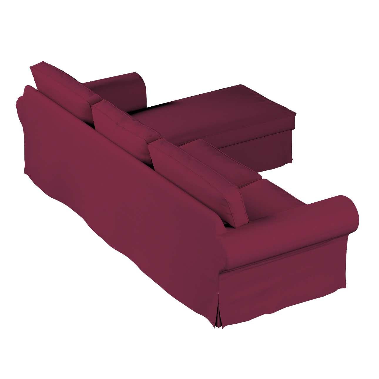 Pokrowiec na sofę Ektorp 2-osobową i leżankę w kolekcji Cotton Panama, tkanina: 702-32