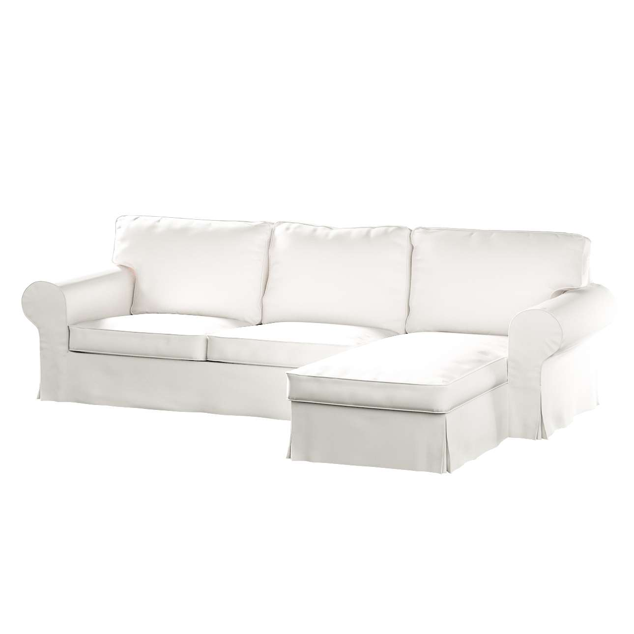Ektorp 2-Sitzer Sofabezug mit Recamiere von der Kollektion Cotton Panama, Stoff: 702-34