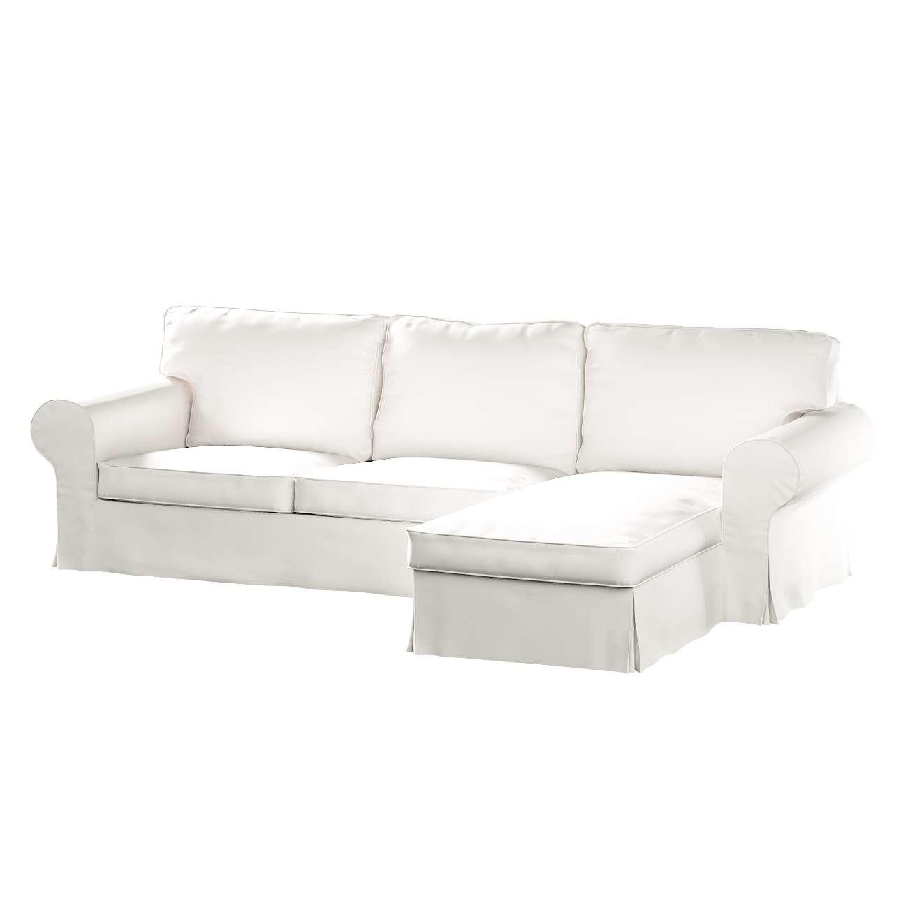 Ektorp dvivietės sofos su gulimuoju krėslu užvalkalas Ikea Ektorp dvivietės sofos su gulimuoju krėslu užvalkalas kolekcijoje Cotton Panama, audinys: 702-34