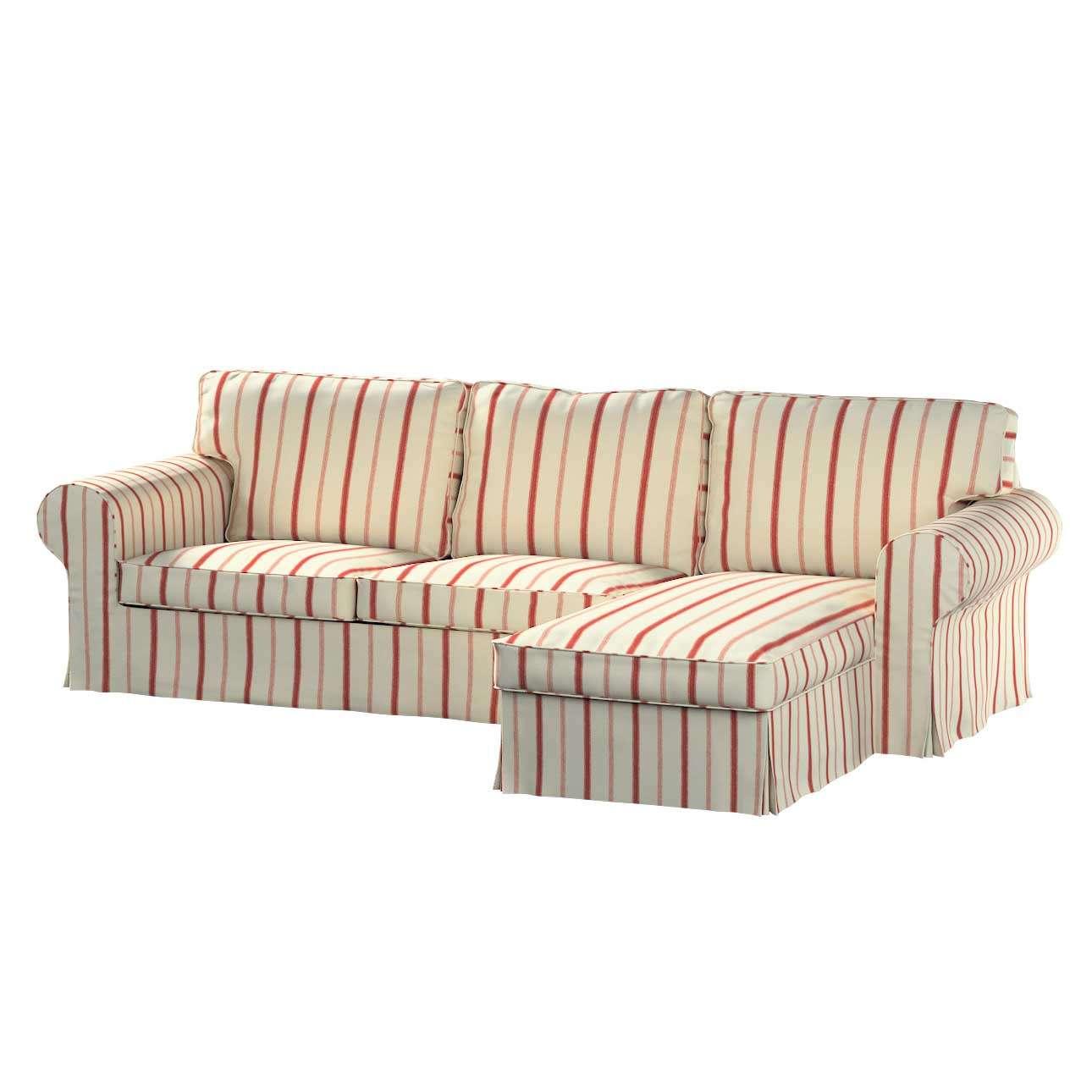 Bezug für Ektorp 2-Sitzer Sofa mit Recamiere von der Kollektion Avinon, Stoff: 129-15