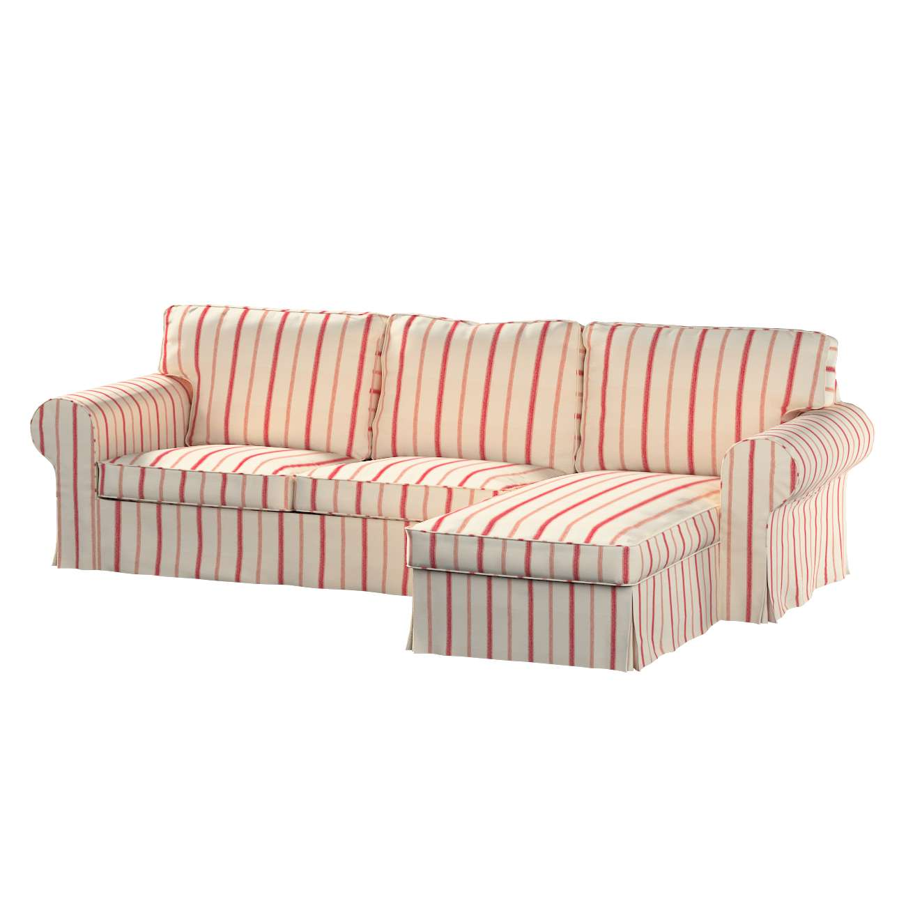 Ektorp dvivietės sofos su gulimuoju krėslu užvalkalas Ikea Ektorp dvivietės sofos su gulimuoju krėslu užvalkalas kolekcijoje Avinon, audinys: 129-15