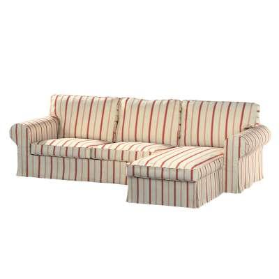 Pokrowiec na sofę Ektorp 2-osobową i leżankę w kolekcji Avinon, tkanina: 129-15