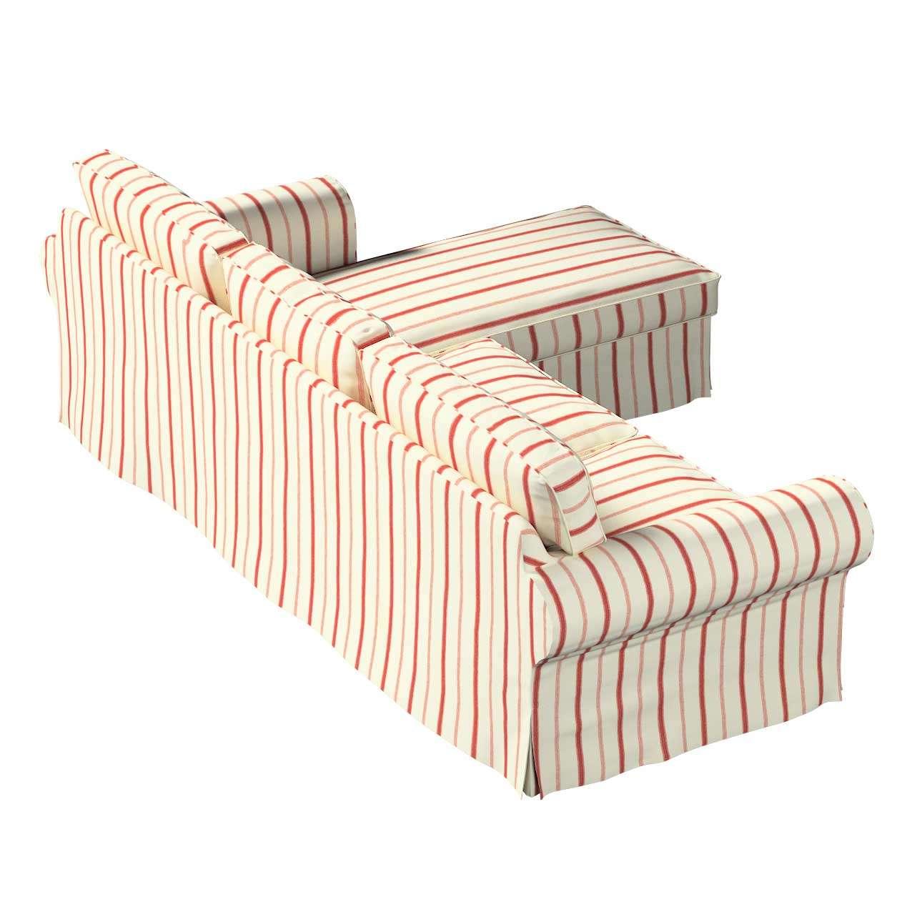 Potah na pohovku IKEA Ektorp 2-místná se šezlongem sofa ektorp 2-0s. i leżanka v kolekci Avignon, látka: 129-15