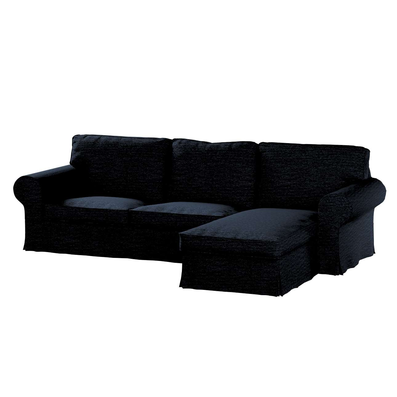 ektorp 2 sitzer sofabezug mit recamiere anthrazit dekoria. Black Bedroom Furniture Sets. Home Design Ideas