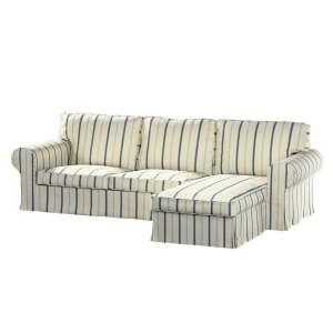 Pokrowiec na sofę Ektorp 2-osobową i leżankę sofa ektorp 2-os. i leżanka w kolekcji Avinon, tkanina: 129-66