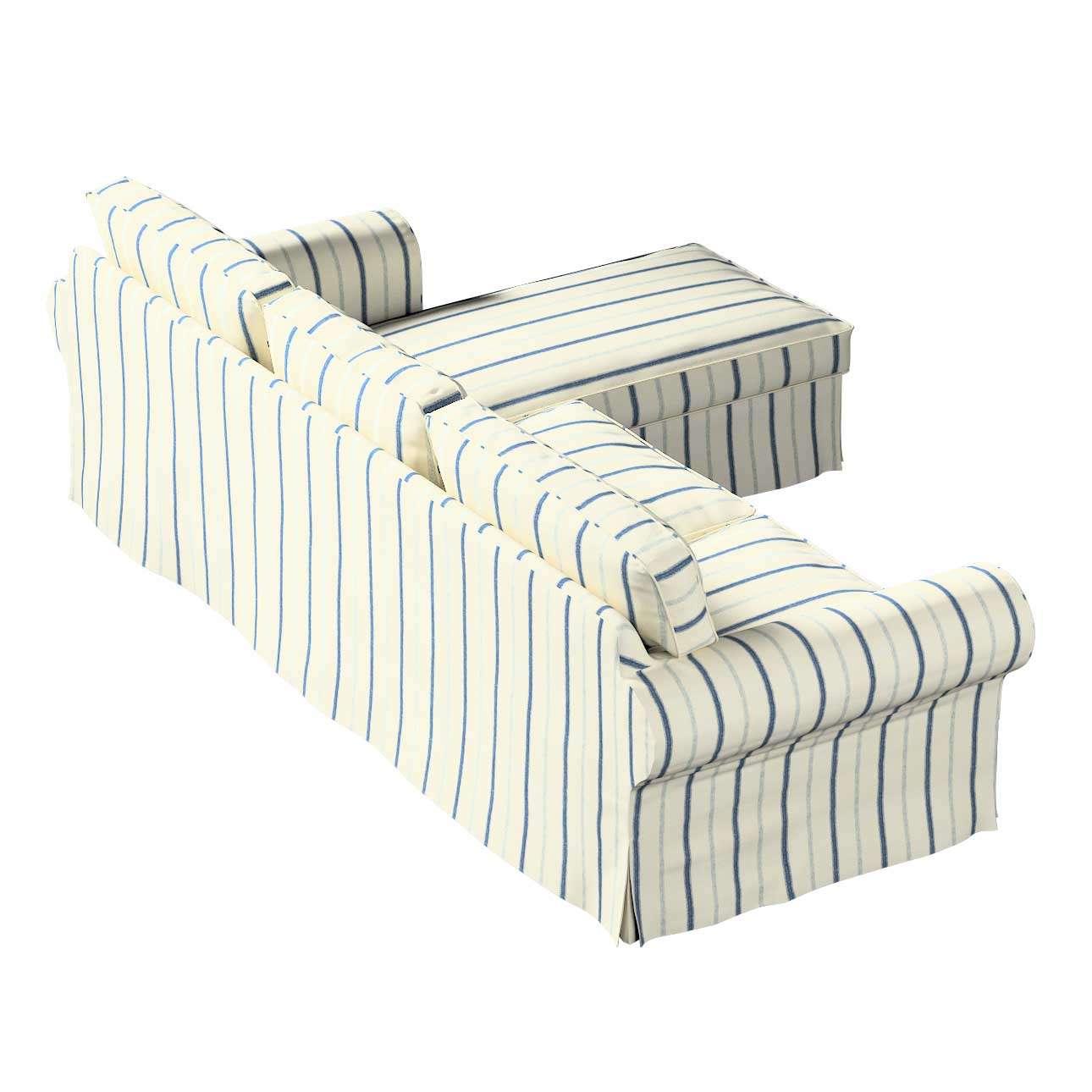 Potah na pohovku IKEA Ektorp 2-místná se šezlongem sofa ektorp 2-0s. i leżanka v kolekci Avignon, látka: 129-66