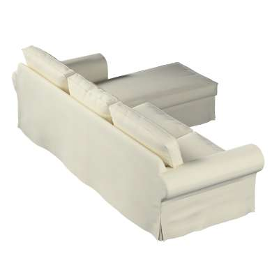 Ektorp 2-seater sofa with chaise longue cover 704-10 creamy white Collection Velvet