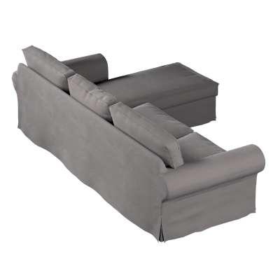 Pokrowiec na sofę Ektorp 2-osobową i leżankę w kolekcji Velvet, tkanina: 704-11