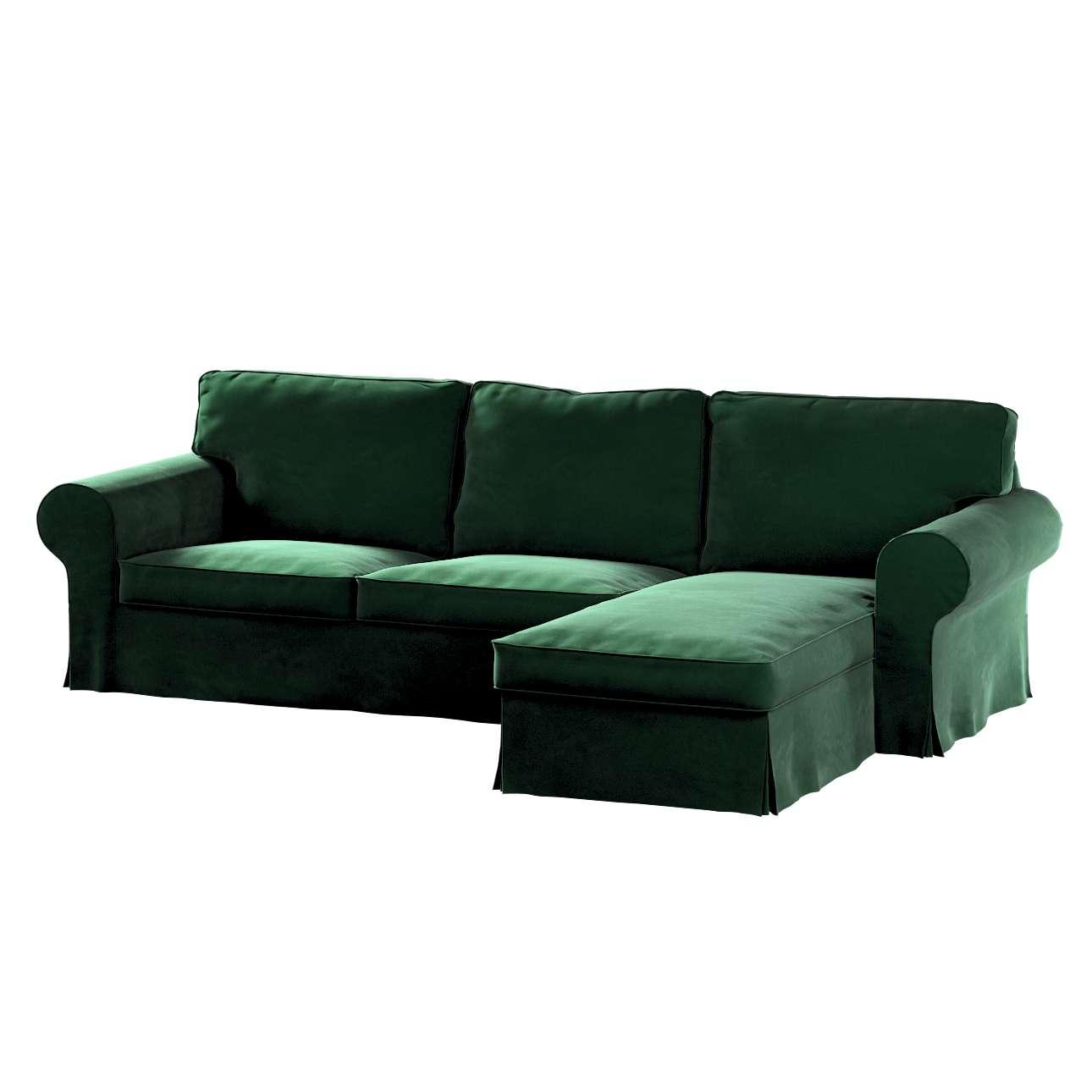 Pokrowiec na sofę Ektorp 2-osobową i leżankę w kolekcji Velvet, tkanina: 704-13
