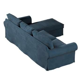 Pokrowiec na sofę Ektorp 2-osobową i leżankę w kolekcji Velvet, tkanina: 704-16