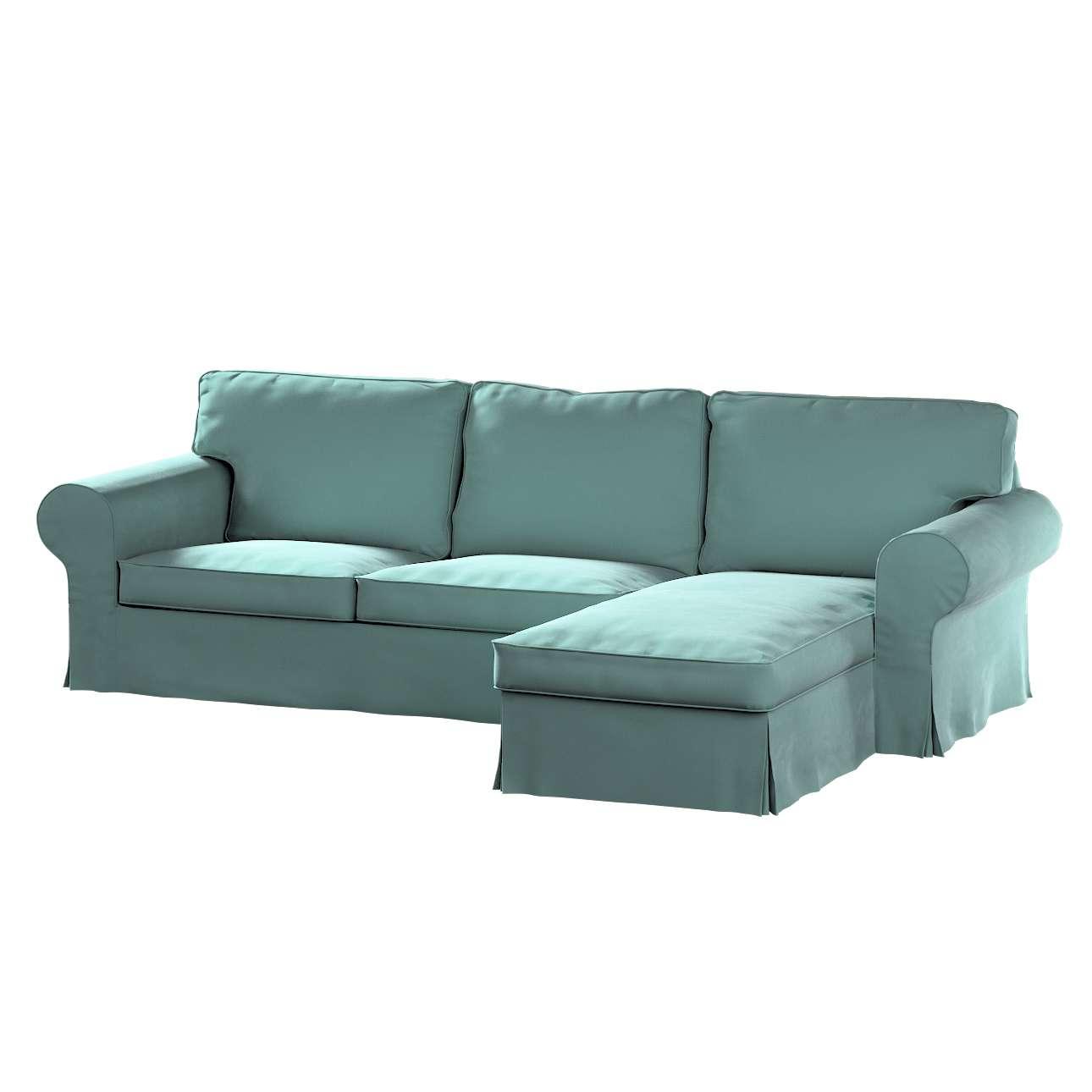 Pokrowiec na sofę Ektorp 2-osobową i leżankę w kolekcji Velvet, tkanina: 704-18