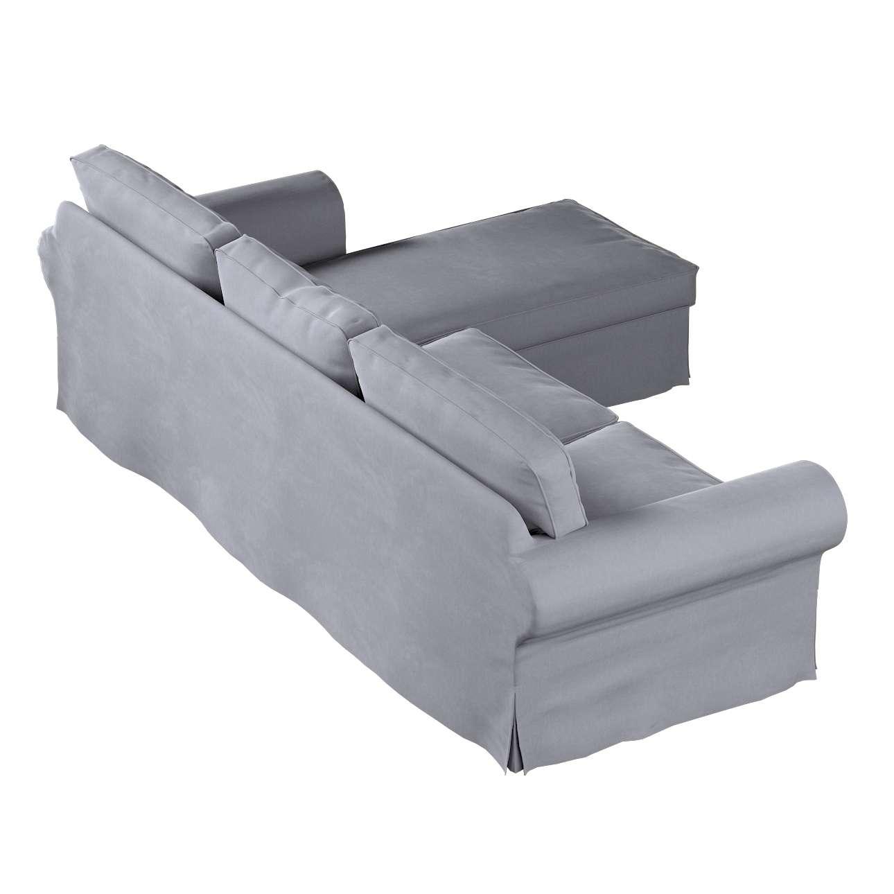 Pokrowiec na sofę Ektorp 2-osobową i leżankę w kolekcji Velvet, tkanina: 704-24