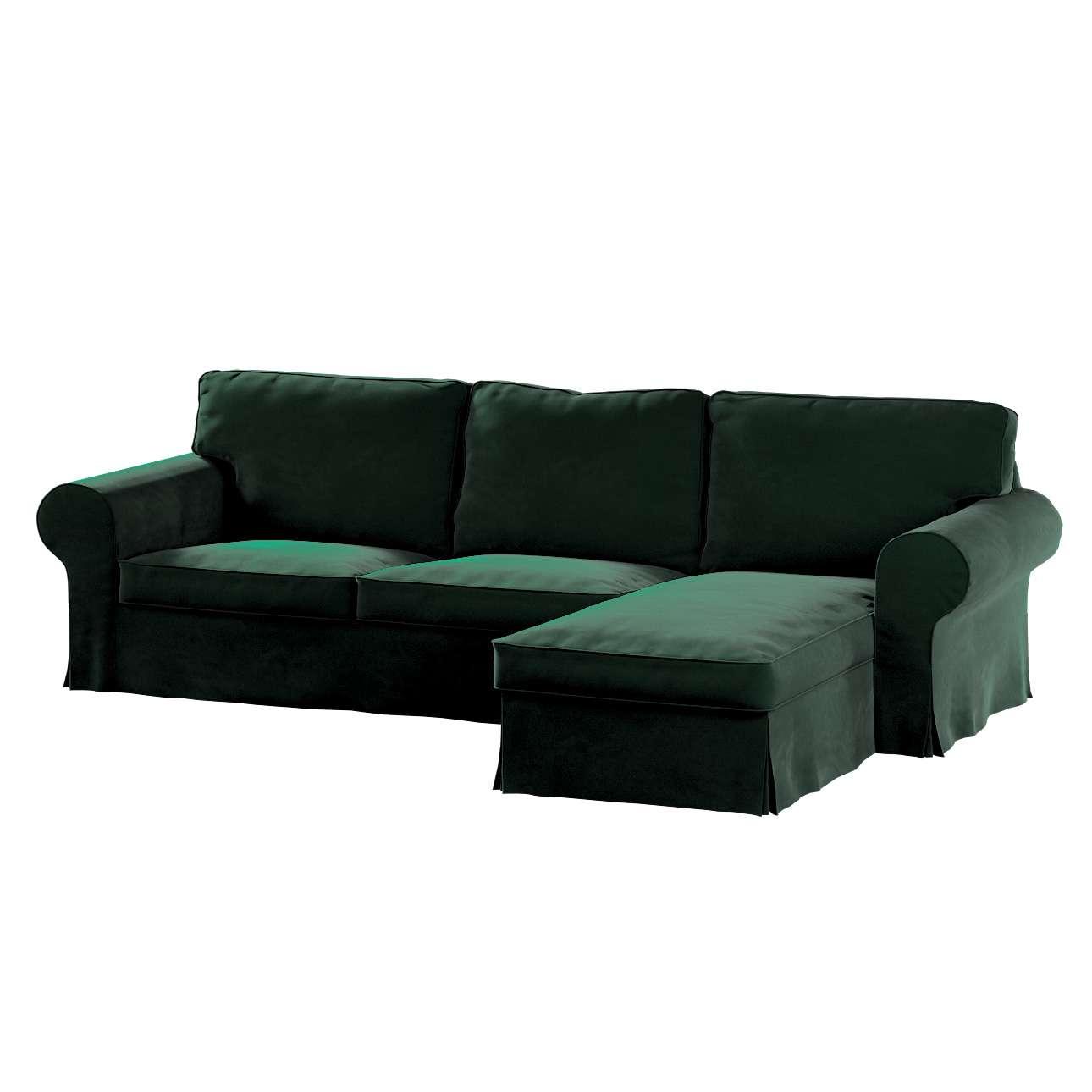 Pokrowiec na sofę Ektorp 2-osobową i leżankę w kolekcji Velvet, tkanina: 704-25